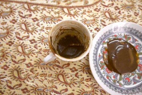 固まったコーヒーの粉