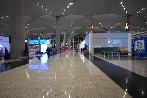 人が少ないイスタンブール空港