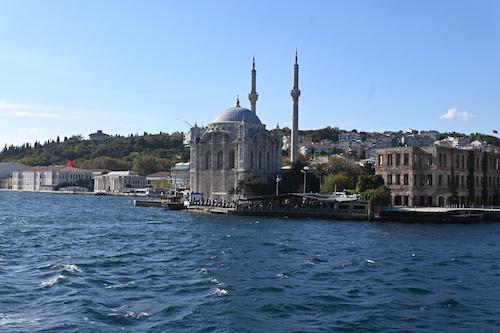 船からの景色の写真